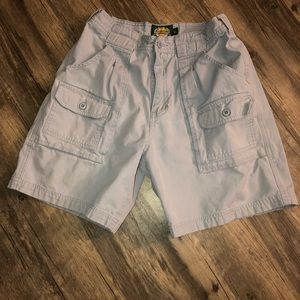 Cabella's size 6.5 cargo shorts gray above knee